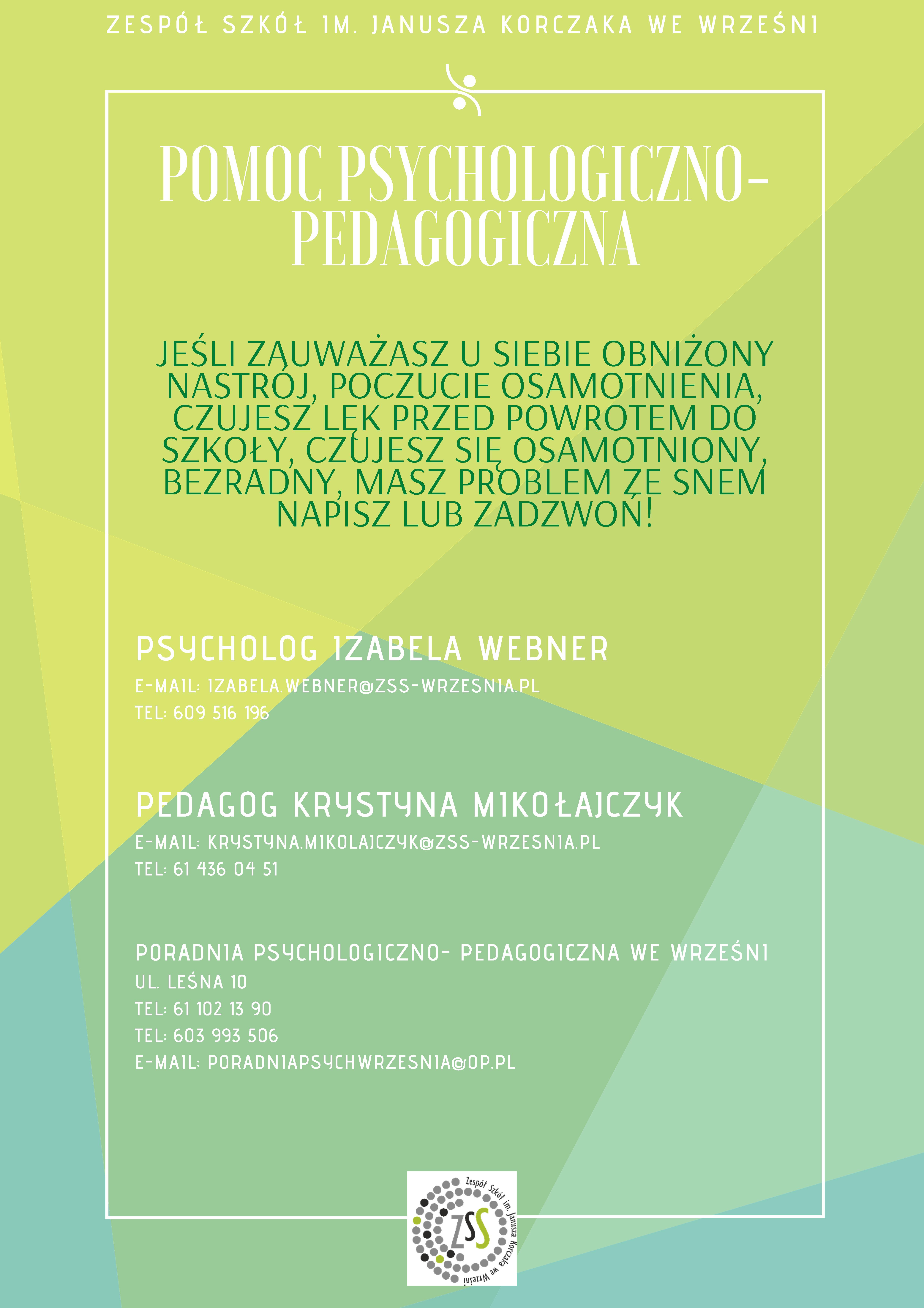 Plakat pomoc psychologiczno-pedagogiczna
